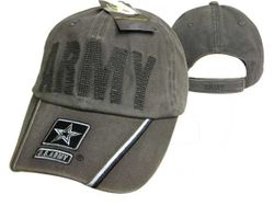Cheap Custom Military Wholesale Buy Cheap Products - Baseball Caps, Wholesale Military Caps Suppliers - MSC Distributors - CAP595CMG Army Logo on Bill