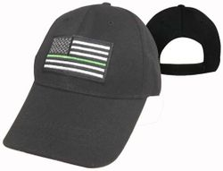 Wholesale Military Caps Suppliers - MSC Distributors - CAP610F US Flag with Green Line