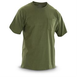 Bulk Wholesale Clothing Pocket T Shirts US Military Suppliers - MSC Distributors - 301194 Military Green