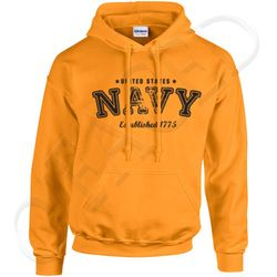 Bulk Wholesale Clothing US Navy Pullover Hoodies  - Yellow Gold - Military Suppliers - MSC Distributors