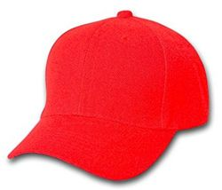 Wholesale Clothing, Best Selling Blank Wholesale Military Hats Bulk Suppliers - Solid Red Ball Cap