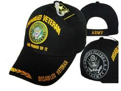 Military Disabled Army Veteran Hats Embroidered Wholesale Bulk Suppliers - MSC Distributors