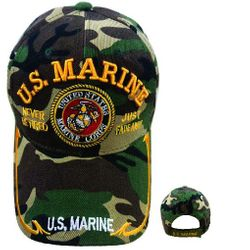Wholesale Military Hats For Men Bulk Suppliers - HTM14. Licensed US Marine Hat [Never Retired Seal] Camo