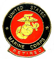 Wholesale Military Hat Pins Supplier Marine Corps Retired - PIN016. Military