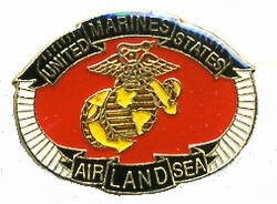 Wholesale Hat Pins Supplier US Marines Military - PIN021. Military