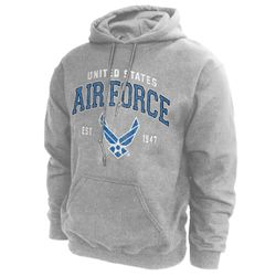 Bulk Wholesale Clothing US Air Force Hoodies Military Suppliers - Grey - MSC Distributors