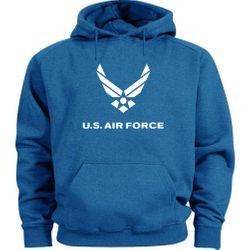 Air Force Hoodies Bulk - Royal Blue - MSC Distributors