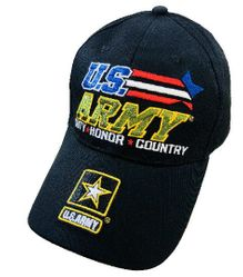 Wholesale Military Patriotic Veteran Hats Caps Bulk Suppliers - HT3011. Licensed US Army Hat DUTY HONOR COUNTRY