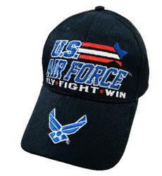 Wholesale Military Patriotic Veteran Hats Caps Bulk Suppliers - HT5011. Licensed US Air Force Hat FLY FIGHT WIN