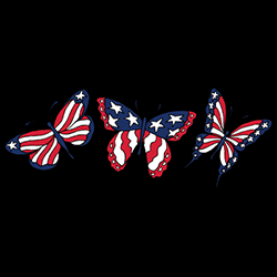 Wholesale Clothing Distributor, High Fashion, Apparel Officially Licensed Patriotic Butterfly Caps T Shirts Bulk Cheap Suppliers - MSC Distributors - 00588el4