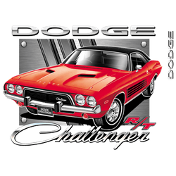 Wholesale Men's Women's Dodge Challenger Car T Shirts Bulk Suppliers - 20420HL2