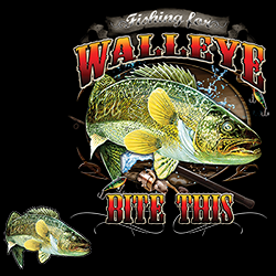 Shop Wholesale Fishing Walleye Designed T-Shirts & Apparel Online - 20476HD1