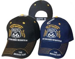 Wholesale Clothing Apparel Officially Licensed Classic Car Route 66 Caps T Shirts Bulk Cheap Suppliers - MSC Distributors