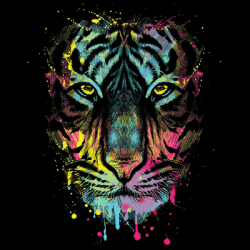 Wholesale Wildlife Animal Tiger Clothing Apparel Officially Licensed T Shirts Bulk Cheap Suppliers - MSC Distributors - 19951NBT2