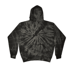 Buy Bulk Clearance Items Colortone Wholesale Tie Dye Pullover Hoodie Bulk Supplier 8777 - SPIDER BLACK