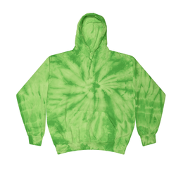 Buy Bulk Clearance Items Colortone Wholesale Tie Dye Pullover Hoodie Bulk Supplier 8777 - SPIDER LIME