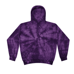 Buy Bulk Clearance Items Colortone Wholesale Tie Dye Pullover Hoodie Bulk Supplier 8777 - SPIDER PURPLE