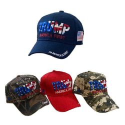 Wholesale Trump T Shirts Baseball Caps - HT1243AS.  Air Shipped 3D Embroidered Trump AMERICA FIRST