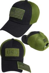 Wholesale USA American Flag Baseball Caps and Patriotic Hats Bulk Sale Suppliers - FG-070 US Flag Patch Soft Mesh