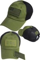 Wholesale USA American Flag Baseball Caps and Patriotic Hats Bulk Sale Suppliers - FG-073 US Flag Patch Soft Mesh