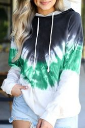 Wholesale Women's Clothing Suppliers - Gray Demi Tie-dye Hoodie