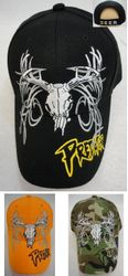 Hunting Hats for Men Wholesale - HT564. Deer Skull Hat [PREDATOR on Bill]