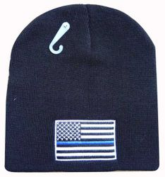 US Flag with Thin Blue Line Hats - WIN991A