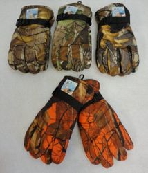 MSC Distributors : Cheap Bulk Winter Gloves and Hats - WN140. Mens Snow Gloves [Assorted Hardwood Camo]