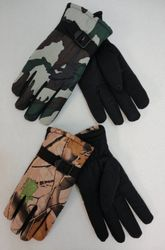 MSC Distributors : Cheap Bulk Winter Gloves and Hats - WN681. Mens Camo Snow Gloves