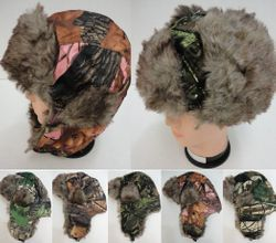 MSC Distributors : Winter Hats Wholesale - WN219. Aviator Hat with Fur Trim--Camo
