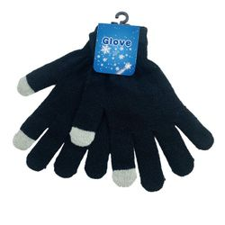Party Toys Wholesale Accessories Merchandise Suppliers - WN3117. Touch Screen Gloves [Black Only]