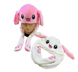 Women's Cool Hats Caps Cheap - WN5623. Plush Bunny Hat with Flapping Ears