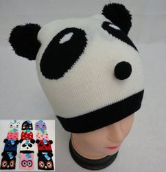 Party Toys Wholesale Merchandise Suppliers - WN848. Child's Knit Hats [Cat Strawberry Panda Owl]