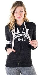 Women's Wholesale Clothing Boutique Supplier Hooded Sweatshirt - 4200N-FZF-9271-Black-1