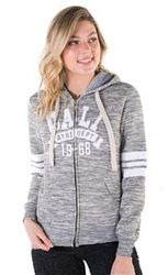 Women's Wholesale Clothing Boutique Supplier Hooded Sweatshirt - 4200N-FZF-9271-Char-1