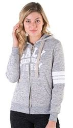 Women's Wholesale Clothing Boutique Supplier Hooded Sweatshirt - 4200N-FZF-9271-Hgrey-1