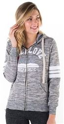 Women's Wholesale Clothing Boutique Supplier Hooded Sweatshirt - 4200N-FZF-9441-Charcoal-1