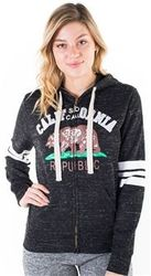 Women's Wholesale Clothing Boutique Supplier Hooded Sweatshirt - 4200N-FZF-961-Black-1