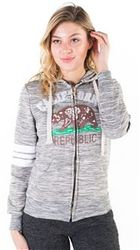 Women's Wholesale Clothing Boutique Supplier Hooded Sweatshirt - 4200N-FZF-961-Char-1