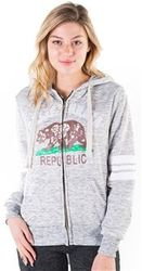 Women's Wholesale Clothing Boutique Supplier Hooded Sweatshirt - 4200N-FZF-961-Hgrey-1
