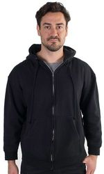 Men's Hoodies Cheap Wholesale Online Drop Shipping - 4016N-BCY21-Black-Men's Fleece Knit Hoodie with Zippered Front 6 of si