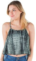 Womens Tops Cheap Wholesale Online Drop Shipping - 4195N-MB-2235 Print-Ladies Printed Cropped Tank Top  1-2-2-1