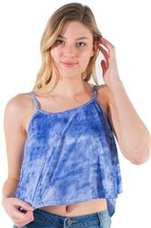 Womens Tops Cheap Wholesale Online Drop Shipping - 4195N-MB-2281 Print-Ladies Printed Cropped Tank Top  1-2-2-1
