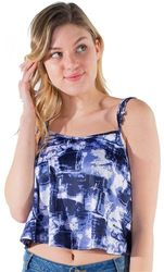 Womens Tops Cheap Wholesale Online Drop Shipping - 4195N-MB-2300 Print-Ladies Printed Cropped Tank Top 1-2-2-1