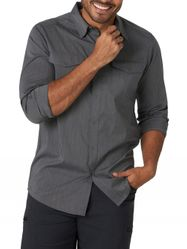 Wholesale Blank Clothing - Wrangler Men's Long Sleeve Solid Outdoor Utility Shirt Grey