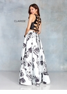 Clarisse Dress 3709 Black & White Floral Two Piece | Prom 2019