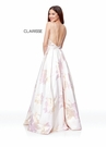 Clarisse Dress 3867 Floral Print Blush Ball Gown | Prom 2019