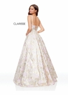 Clarisse Dress 3868 Floral Brocade Ball Gown | 2 Colors | Prom 2019