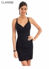 Clarisee Homecoming 2019 Sexy Black Cocktail Dress 3968