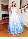 Clarisse Dress 3701 Floral Ombre Gown   Prom 2019